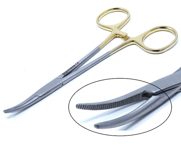 Gold Handle Mosquito Hemostat Forceps 5.5