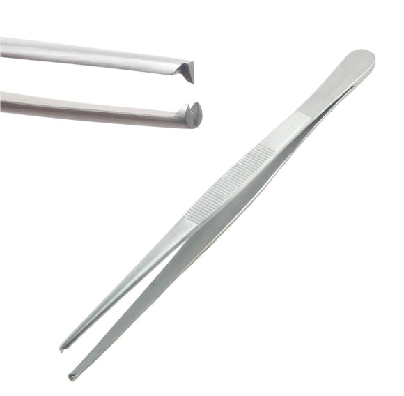 Dissecting Tissue 1x2 Rat Tooth Blunt Thumb Forceps Tweezers 6