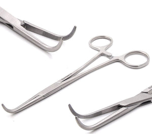 "Right Angle MIXTER HEMOSTAT Forceps 6"" FINE Point"