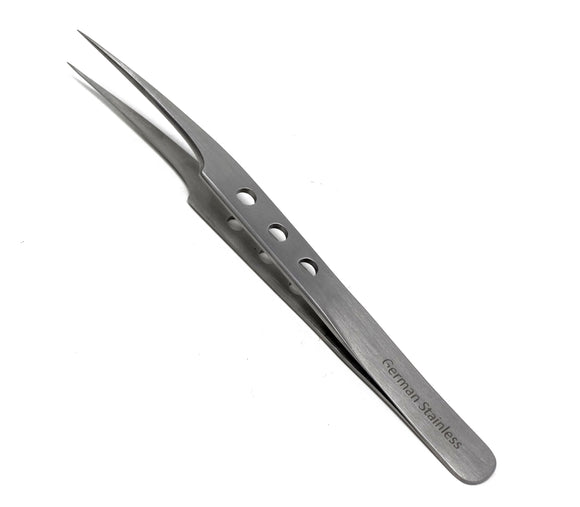 Stainless Steel 3D 5D 6D Volume False Eyelash Extension Tweezers Pro Straight, Fenestrated Handle, Premium Quality
