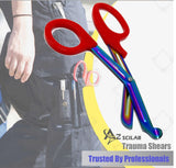 Set of 6 Pcs Trauma Paramedic ENT Shears With Multi Color Stainless Steel Blades