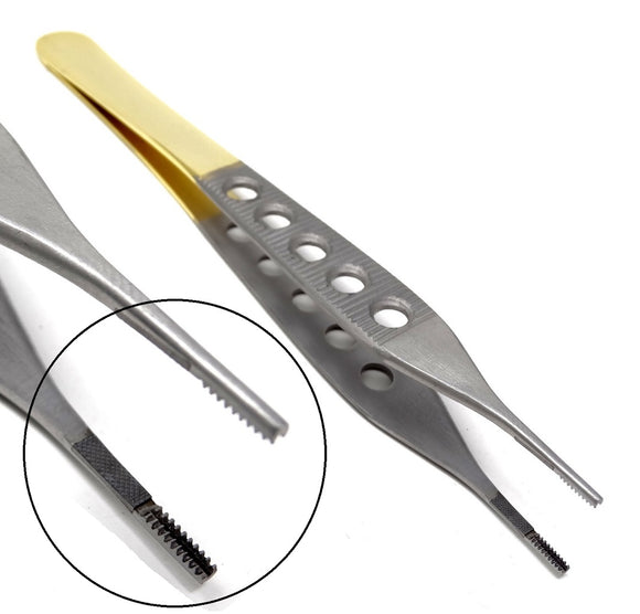TC Adson Brown Tissue 9x9teeth Forceps 6