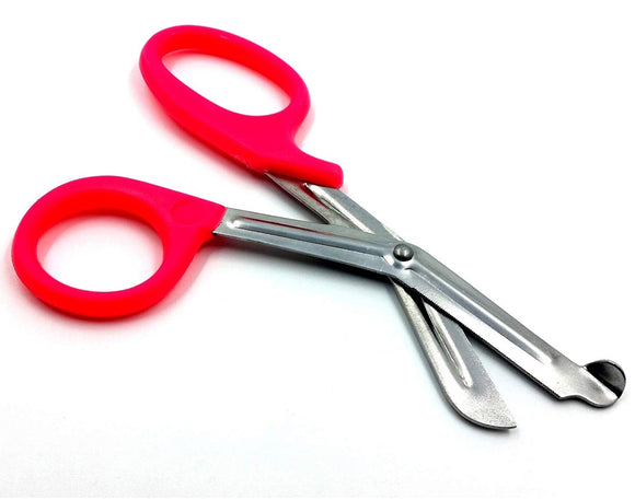 Pink Handle with Stainless Steel Blades Trauma Shears 7.25