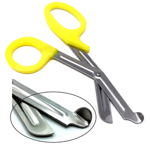 Yellow Handle with Stainless Steel Blades Trauma Shears 7.25""