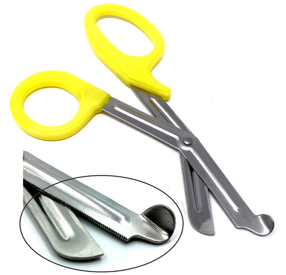 Yellow Handle with Stainless Steel Blades Trauma Shears 7.25