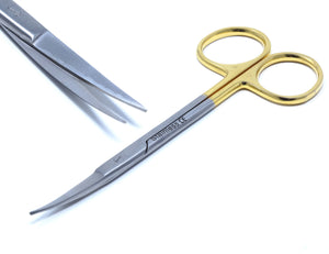 "TC Dissecting Iris Sharp Fine Point Scissors, 4.5"", Curved"