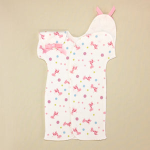 NICU Friendly Gown Pink Giraffe Bubble