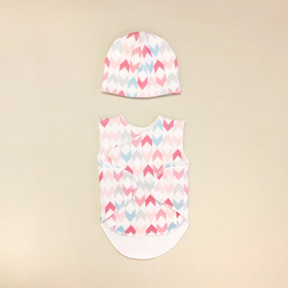 NICU Wrap Set Pink Chevron