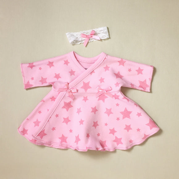 Ruffled NICU Dress & Headband Stars