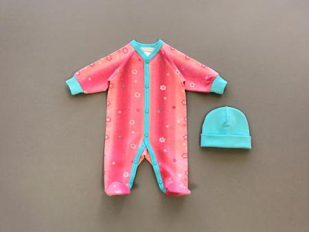 Coral Sunset Babygrow Set