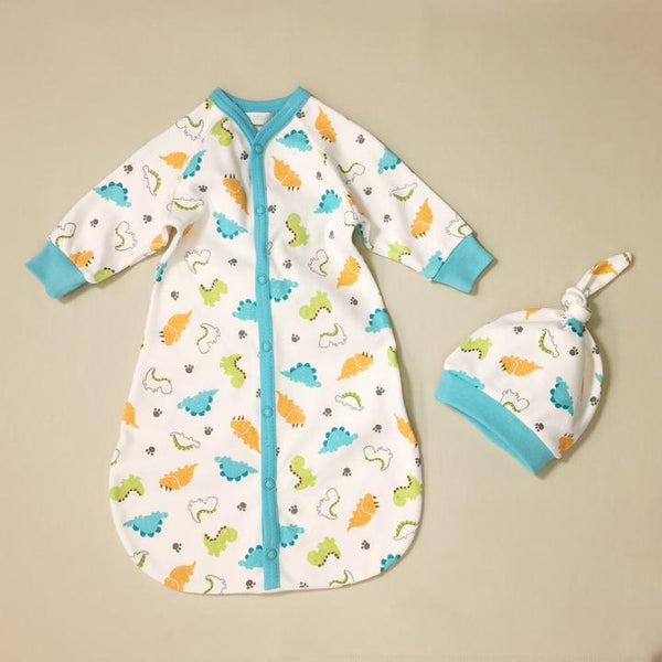 Dino Sleep Sack & Knot Hat