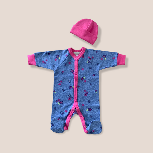 Purple Periwinkle Babygrow Set