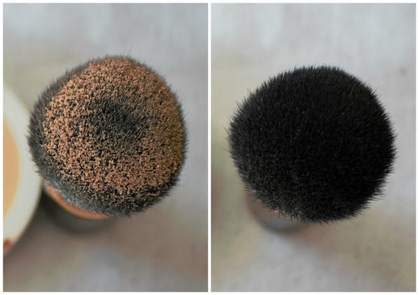 The Kabuki Brush with powder photographed by Emma Dowling