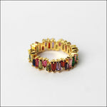 Angelina Hart Stackable Baguette Rings Gold
