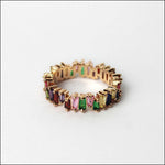 Angelina Hart Stackable Baguette Rings Rose Gold