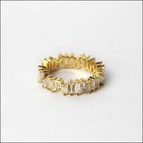 Angelina Hart Stackable Baguette Rings Yellow Gold