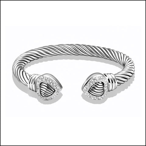 Angelina Hart Heart Bangle Bracelet
