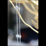 Angelina Hart Diamonds by the Yard Necklace Detail