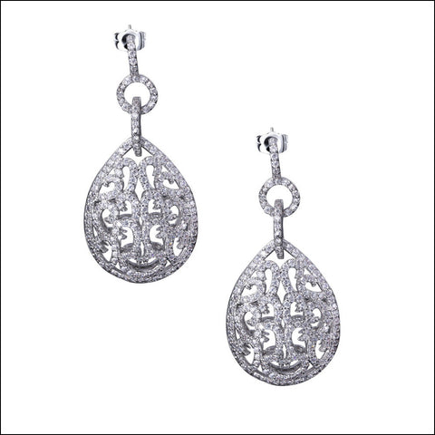 Angelina Hart Pave Hartique Drop Earrings
