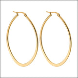 Angelina Hart Flirt Hoop Earrings Gold