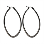 Angelina Hart Flirt Hoop Earrings Matte Black