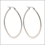 Angelina Hart Flirt Hoop Earrings Silver