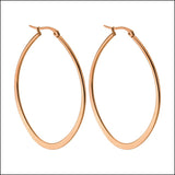Angelina Hart Flirt Hoop Earrings Rose Gold