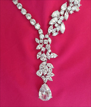 Angelina Hart Grace Kelly Diamond Necklace Detail