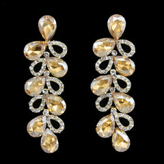Angelina Hart Grand Canary Pear Drop Earrings Front View