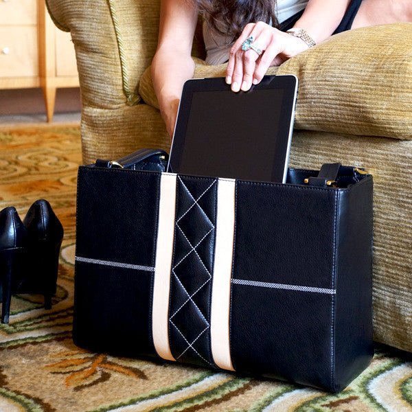 Store your laptop or tablet in the Grand Career Tote Professional Women's Handbag by Angelina Hart