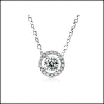 Angelina Hart Halo Hartique Diamond Pendant White Gold