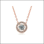 Angelina Hart Halo Hartique Diamond Pendant Rose Gold