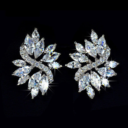 Angelina Hart Marquise Cluster Earrings