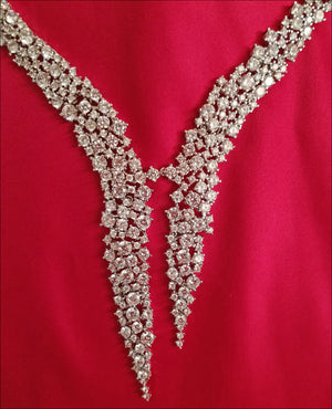 Angelina Hart Monaco Diamond Necklace Detail