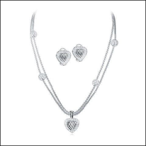 Angelina Hart Silver Heart Set