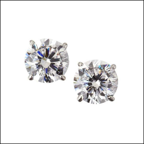Angelina Hart Solitaire Earrings