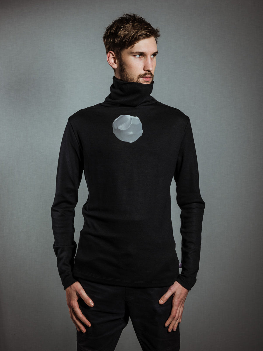 MERINO TURTLENECK - GREY ELEMENT