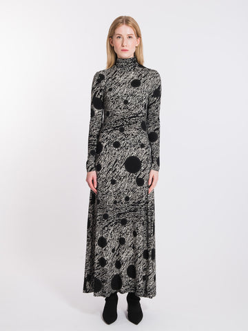 BLACK&WHITE COSMIC PLANET DRESS