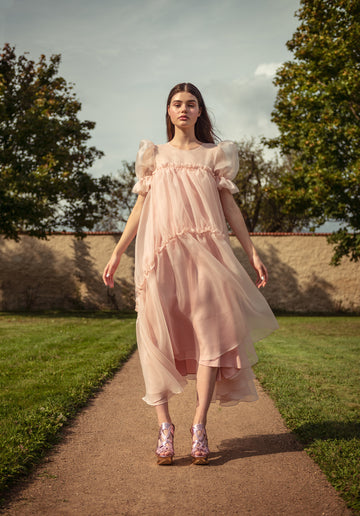 SAKURA SILK ORGANZA DRESS
