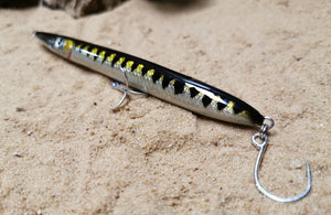 KZ-BR200 Barracuda Handmade Lure 35g 20cm BKK Hooks for Spinning, Topwater Surface, and Saltwater Lure Pencil Bait