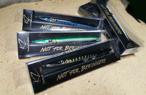 KZ-BR200 Black Back Handmade Lure Pencil Bait 35g 20cm with BKK Hooks for Spinning, Topwater Surface, and Saltwater