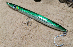 KZ-BR200 Sinking Garfish Handmade Lure 55g 20cm BKK Hooks for Spinning, Topwater Surface, and Saltwater Lure Pencil Bait
