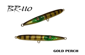 KZ-BR110 Gold Perch Handmade Topwater surface lure 11g for Spinning