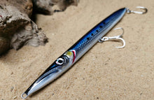 Load image into Gallery viewer, KZ-BR200 Blue Sardine Handmade Lure Pencil Bait 35g 20cm with BKK Hooks for Spinning, Topwater Surface, and Saltwater