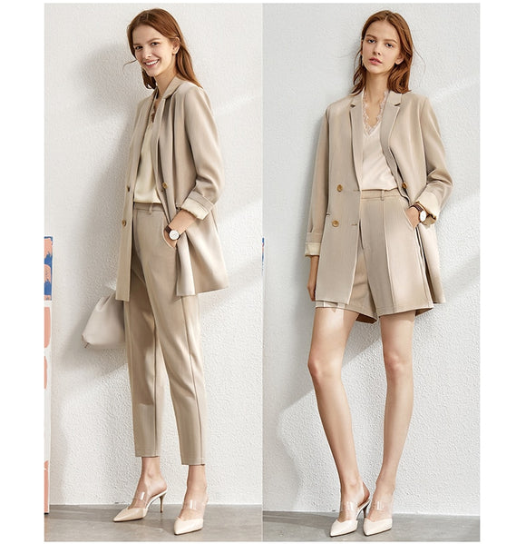 4 pieces Jacket and Pants Suit Sets
