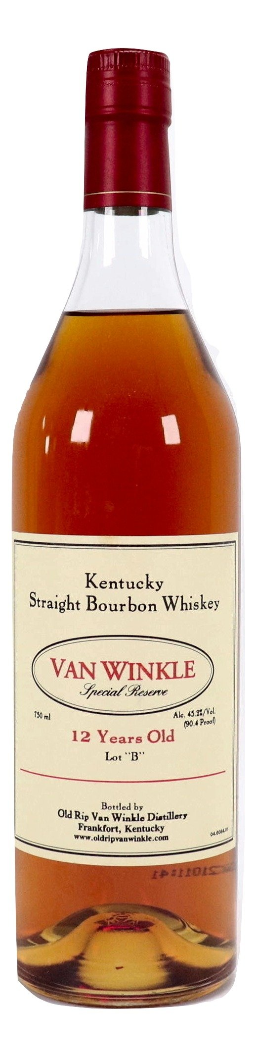 Pappy Van Winkle 12 Year Old Special Reserve - Lot