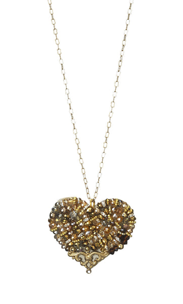 Crystal Medium Size Heart Necklace