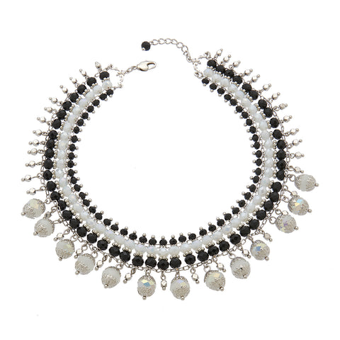 Crystal Black & White Choker
