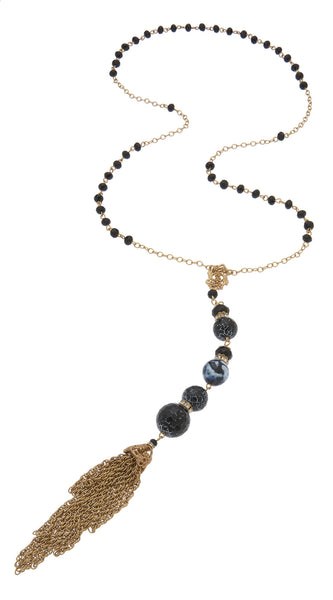 Black Agate Rosary