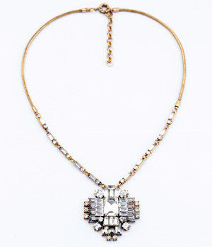 Art Deco inspired crystal necklace